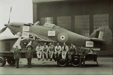 Metal Sign 507053 Hawker Hurricane And Rcaf Crew 1943 Dnd Pa 145295 A4 12x8 Alum