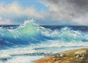 "184 - 5""x7"" CANVAS GICLEE ART PRINT Nautical Surf Mexico Gulf Sea by Mesheryakov"