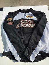 Harley-Davidson BOULEVARD Black & White Mesh Riding Jacket 97372-13VM Large