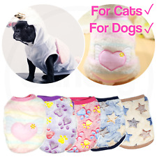 Pet Fleece Clothes Puppy Dog Jumper Sweater Small Yorkie Chihuahua Cat Outfit UK