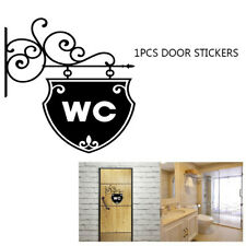 LX_ Fashion WC Toilet Sign Bathroom Door Wall Sticker Doorplate Home Decor HOT