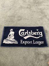 Vintage Carlsberg Export Lager Beer Bar Towel Man Cave FREE P&P