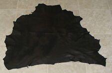 (LFE10506) Hide of Black Lambskin Leather Hide Skin