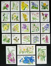 IRELAND 2004-10 WILD FLOWERS COMPLETE SET 24 VALUES TO €10 FROM SHEET FORMAT MNH