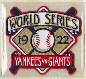 1922 WORLD SERIES Willabee Ward NEW YORK GIANTS / NEW YORK YANKEES ~ PATCH ONLY