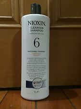 Nioxin System 6 Cleanser For Medium, Thinning 1000ml / 33.8oz (Chemically)