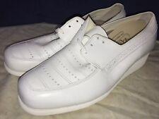 P. W. Minor Ortopédicas Blanco Encajes Tacón Plataforma Cómodo Zapato 11 D Ancho