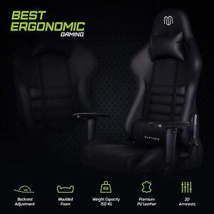 MARTUNIS Rocker Gaming Chair, Best Office ,Secret Lab Gaming Best Gaming Chair