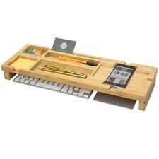 Desk Tidy Space Saving Keyboard  iPhone Organiser, Made of Bamboo