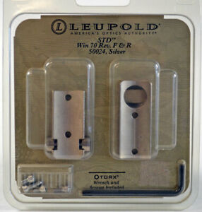 Leupold Std. Bases Win 70 Reversible Front and Rear Silver  #50024