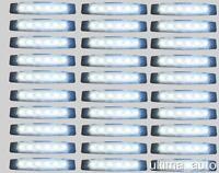 30 X SEGNALATORE LUCE INGOMBRO 6 LED SMD 24V 24 VOLT BIANCO CAMION RIMORCHI L051