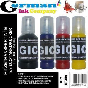 GIC Sublimationstinte für Ecotankdrucker - 102 | 104 | 150 | 106 z.Bsp. ET-7750