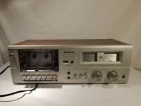 Vintage Metal Panasonic RS-608 Stereo Cassette Tape Player Deck