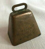 Vintage Jett & Wood Merc Co Wichita Kansas Harvest Home Copper Wash Bell