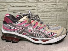Asics Gel Kinetic 4 Women's Running Shoes Size 7.5 pink Gray White