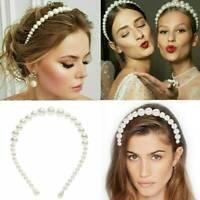 Chic Big Pearl Headband Women Cat Ear Hairband Hoops Girls Hair Accessories