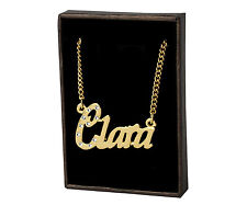 """Name Necklace """"CLARA"""" - 18ct Gold Plated - Made With Swarovski Elements- Stylish"""