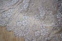 Soft Two-tone Wedding Lace Fabric Paisley Floral Embroidery Chantilly Fabric 1YD