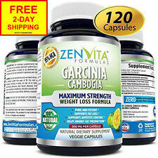 NEW 95% HCA Pure Garcinia Cambogia Extract 120 Capsules Highest Potency