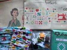 Lot Cross Stitch Items Project Bags Grime Guards Dmc Floss Q Snap 6x6 Frame