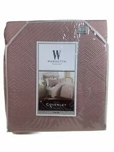 WAMSUTTA COVERLET Blanket Comforter Twin Quilted Bliss 68 X 86 Inched