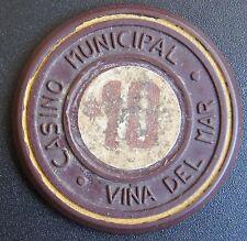 Chile Casino Chip Casino Municipal de Viña del Mar $10