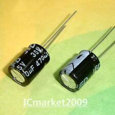 100 PCS 470UF/35V 10x15mm Radial Electrolytic Capacitors 35V 470UF 105℃