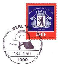 Berlín 1976: 125 años de Berlín bomberos! nr 523 con etiquetas primero sello! 1a! 1510