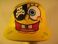 MEN'S or YOUTH CAP SPONGEBOB Pirate Nickelodeon Hat Size 7 S/M [Y154e]