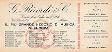 BUONO SCONTO G. RICORDI E C. VIA BERCHET MILANO NEGOZIO DI MUSICA 1952 3-332TRI