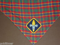 VINTAGE BSA BOY SCOUTS OF AMERICA 1960-70S NECKERCHIEF PLAID