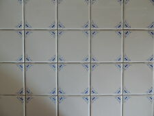 BLUE AND WHITE OXEN TILES KITCHEN BACK SPLASH DELFT STYLE (30)