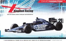 2010 Davey Hamilton Kingdom Racing Honda Dallara Indy 500 Indy Car postcard
