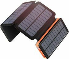Solar Charger 25000mAh Power Bank with 4 Solar Panels and USB Type-C Port
