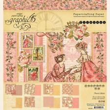 "Graphic 45 Princess 8x8"" Scrapbooking Paper Pad - 24 sheets Baby Girl Pink"