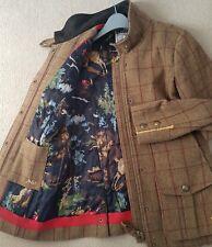 Joules Holker Tweed Field Coat Size 12