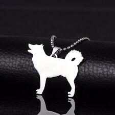 Stainless Steel Alaskan Malamute Husky Mal Mally Pet Dog Tag Charm Pendant Chain