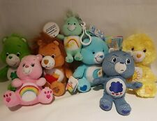 Care Bears - Small Plush Lot Of 7 - Beanie - Keychain - Some Tags - Anniversary