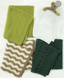 Baby Chunky  Knitting Pattern Baby Blankets Easy Knit   #249
