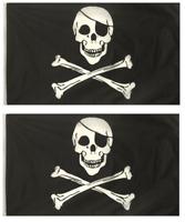 Pirate Santa Seasonal Skull /& Crossbones YO HO HO Bunting 9m long with 30 Flags