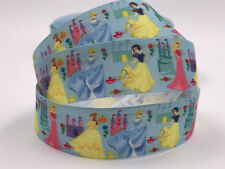 1 Yard 1'' Princess woman Printed Grosgrain Ribbon Hair Bow Sewing Ribbon