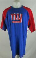 New York Giants G-III Men's Royal Blue/Red 3 Quarter Sleeve Screen Print T-Shirt