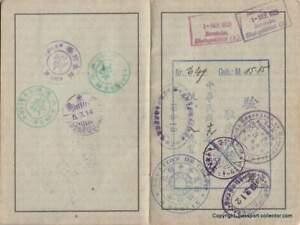 Passport 1929 - Germany - Prof. Reguard - China-Manchuria-Russia-Poland Visa