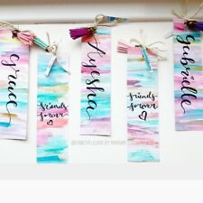 HandMade Personalised Bookmarks/Favors/Place Cards Bespoke