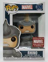 Funko Pop! Marvel #309 Marvel Collector Corps Exclusive Rhino + Pop Protector