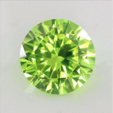 Apple Green Sapphire 7.26Ct 9mm Round Faceted Cut Shape AAAAA VVS Loose Gemstone
