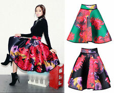 Below Knee Full Floral Regular Size Skirts for Women
