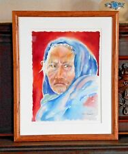 Kate Toussaint Unheard Curandera Water Color Matted Framed Print