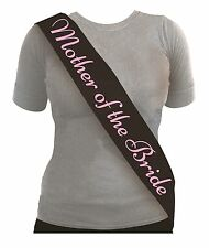 Hen Party Night Sashes - 4 Colours Available Mother of The Bride Black