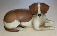 Elaine Frank Valletta Folk Art Carved Wood Dog